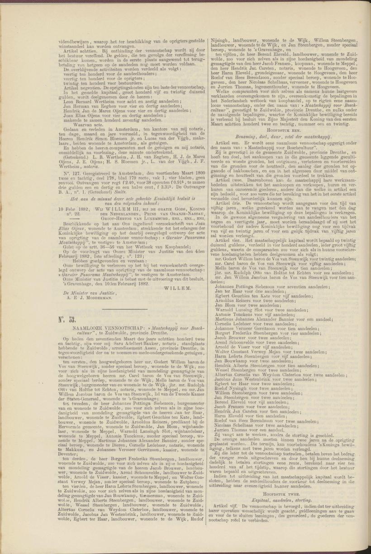 Aandeel in nieuwe ontwikkeling Nederlandsche staatscourant 05 04 1882
