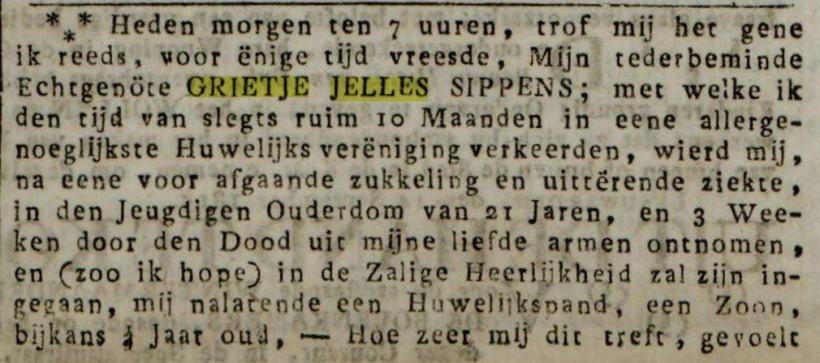 18150929 Grietje Jelles overlijden