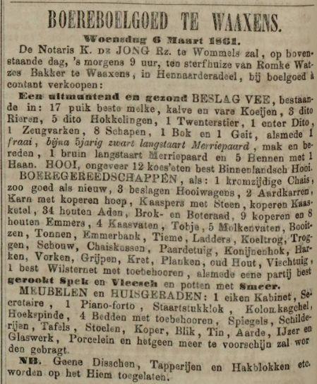 18610215 LC Boereboelgoed Romke Watzes Bakker