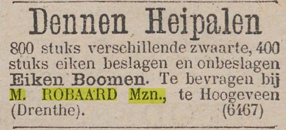 18820503 Het nieuws van den dag kleine courant M Robaard verkoop heipalen