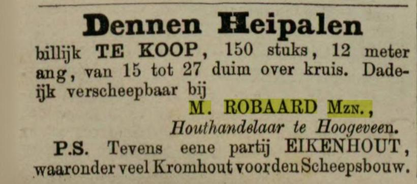 18831008 Leeuwarder Courant Houthandelaar M Robaard Mzn