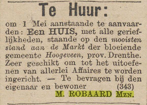 18870202 Het nieuws van den dag kleine courant te huur huis M Robaard Mzn