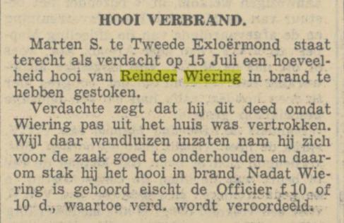 19380721 Drentsche en Asser courant brand in hooiberg